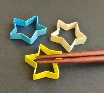 七夕の折り紙♪箸置き(立体の星)の簡単な折り方
