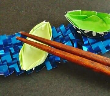 七夕の折り紙♪箸置き(笹舟)の簡単な折り方