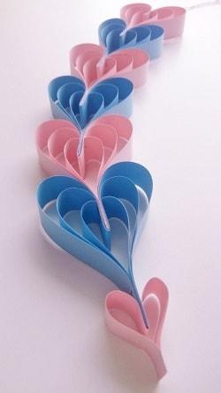 七夕飾りを折り紙で♪かわいい簡単な立体ハートつづりの作り方