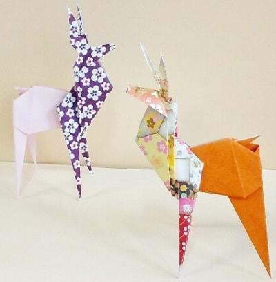 【折り紙で秋の動物】鹿(シカ)の折り方(立体・簡単・おしゃれ)