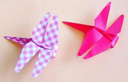 【折り紙で秋の虫】赤とんぼの折り方(立体・簡単・かわいい)