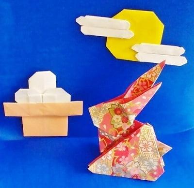 【折り紙で秋の動物】ウサギの折り方(立体・簡単・かわいい)
