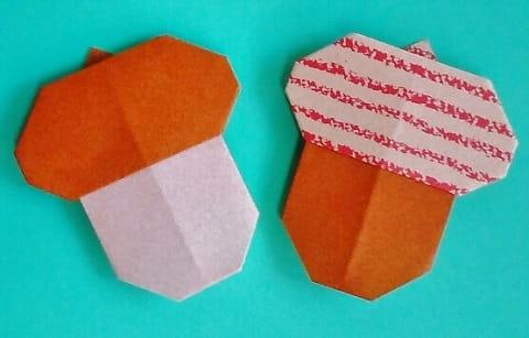 【折り紙】秋のもの(どんぐり・平面)の簡単な折り方