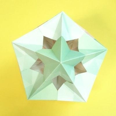 【折り紙のくす玉】星型の簡単な作り方(24枚で作れる・かわいいユニット折り紙)