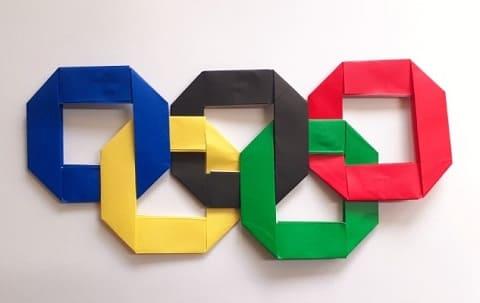 オリンピックを折り紙で!オリンピックシンボルマーク(五輪)の簡単な折り方1
