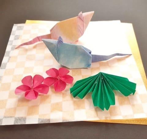 【折り紙 干支】子・鼠(ネズミ)の簡単な立体の折り方【初心者におすすめ】