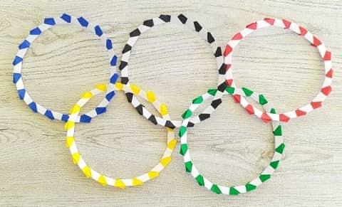 オリンピックを折り紙で!オリンピックシンボルマーク(五輪)の簡単な折り方2