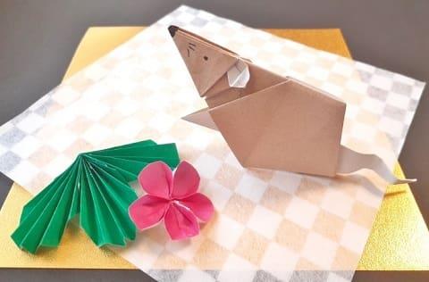 【折り紙 干支】子・鼠(ネズミ)の簡単な立体の折り方【前足のあるねずみ】