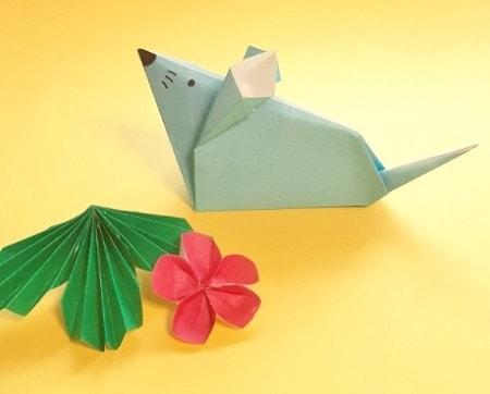 【折り紙 干支】子・鼠(ネズミ)の簡単な立体の折り方【シンプルなかわいいねずみ】