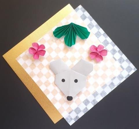 【折り紙】かわいいねずみの顔の簡単な折り方(シンプルなネズミ1)