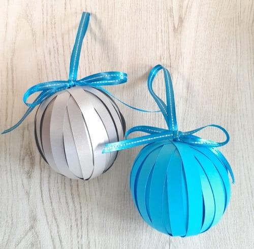 画用紙で作る立体ボールのオーナメント飾りの作り方【簡単・おしゃれ】