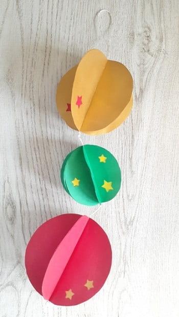 画用紙で作る立体ボールのオーナメント飾りの作り方 【簡単・可愛い】