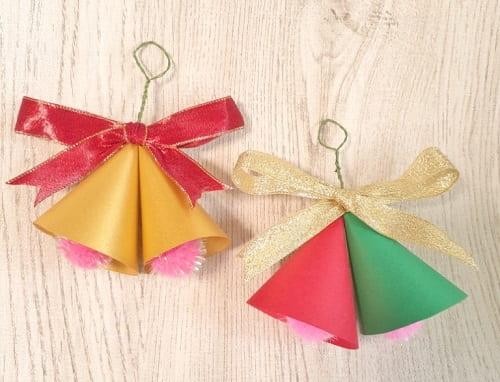 画用紙で作る立体ベル飾りの作り方【おしゃれで可愛い】